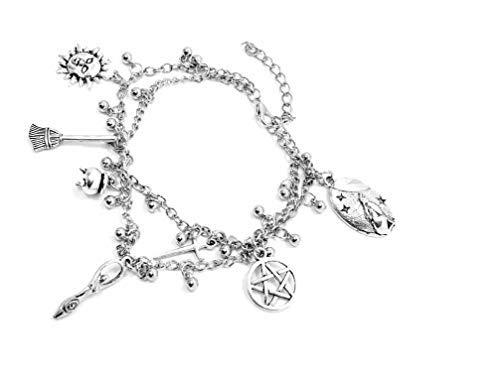 Eclectic Shop Uk Pagan Wicca Knöchel Fußkettchen Armbanduhr Doppelt Kette Bettelarmband Perle...