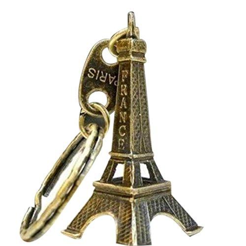 squarex verziert Cute 3D Eiffelturm French Souvenir Paris Neuheit Schlüsselanhänger (Schnalle Dollar)