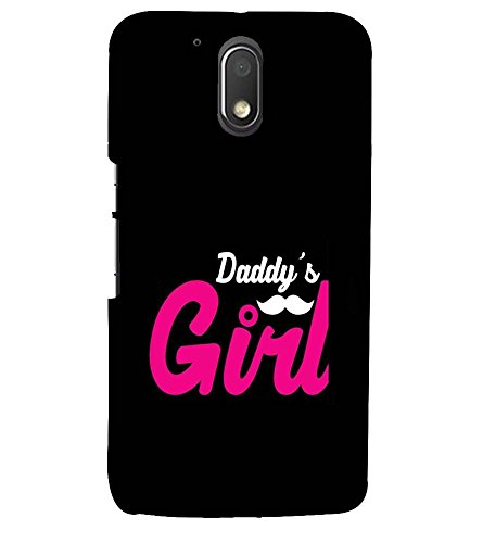 printtech Latest Designer Printed Mobile Back Case Cover for Moto G4 Plus (G4 Plus \Moto G 4Th Generation) (Daddy Girl Love Pink And Black (For Girls))