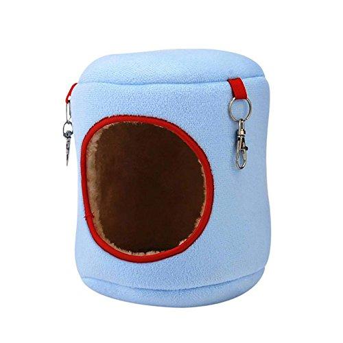 Hamster Winter Warm Hängematte Bett Eleventen Ratten Eichhörnchen Haustier Käfig Hängetier Spielzeug Blau L