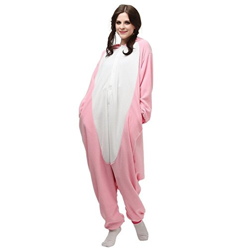 üm Jumpsuit Erwachsene Schlafanzug Tierkostüme Unisex Karneval Halloween Cosplay (S, Pink) (Pink-halloween-kostüme Für Erwachsene)
