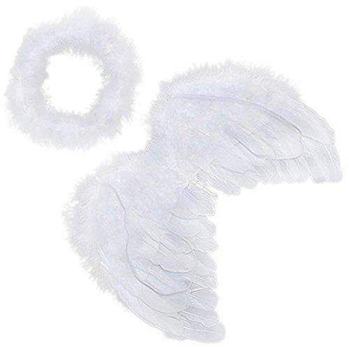 (Engel Feder Flügel Halon Karneval Kostüm Cupid Halloween Cosplay)
