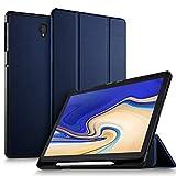ELTD Funda Carcasa con portalápices para Samsung Galaxy Tab S4 10.5 SM-T830N/T835N, Stand Función Fundas Duras Cover para Samsung Galaxy Tab S4 SM-T830N/T835N 10.5' 2018,(Azul)