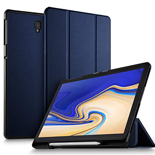ELTD Hülle für Samsung Galaxy Tab S4 T830/T835, Ultra Leightweight Flip mit Ständer & Eingebautem Magnet PU Leder Hülle für Samsung Galaxy Tab S4 T830/T835 10.5 Zoll 2018 (Blau)
