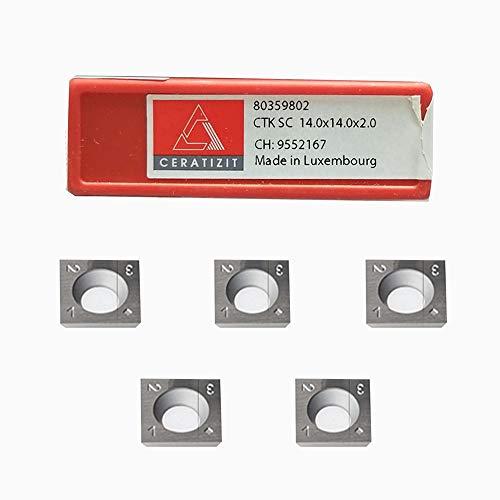 RTing 14 mm Standard quadratischer Hartmetall-Einsatz, Hobelmesser für DIY Holzdrehwerkzeuge, spiralförmiges Hobelkopf, 14-14 - 2 mm, 10 Stück