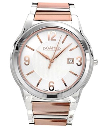 Roamer Swiss Elegance Women's Quartz Watch with Silver Dial Analogue Display and Rose Gold Stainless Steel Bracelet 507844 49 15 50