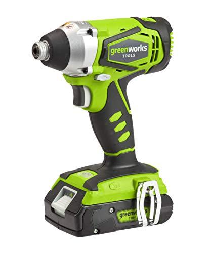 Greenworks Tools-24V Batterie de chocs de 1/4-Comprend...