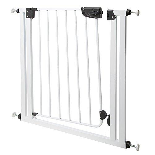 Ferplast 73300211 Absperrgitter Dog Gate für Hunde, Maße: 70 x 79 cm, weiß