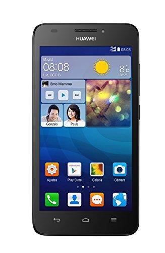 Huawei G620S - Smartphone libre Android (pantalla 5', cámara 8 Mp, 8 GB, Quad-Core 1.2 GHz, 1 GB RAM), color negro