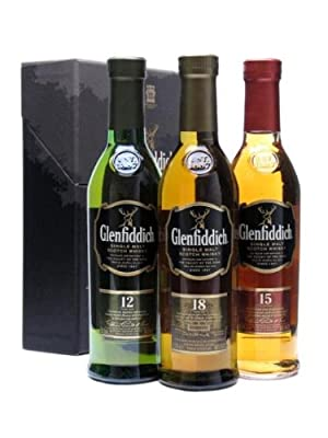 Glenfiddich 3 x 20cl Single Malt Whisky Gift Set