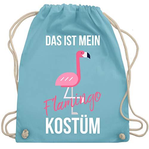 Karneval & Fasching - Das ist mein Flamingo Kostüm - Unisize - Hellblau - WM110 - Turnbeutel & Gym Bag