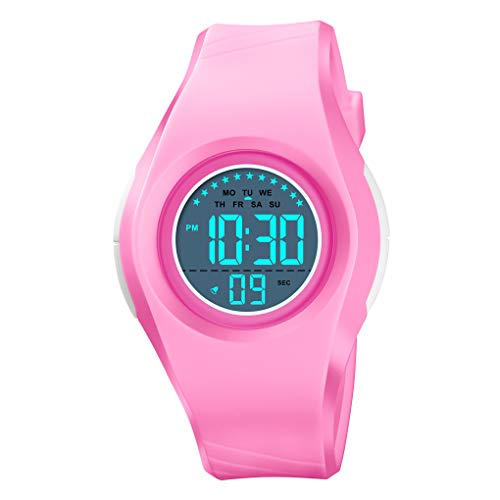Etows® - Reloj de niño para niño, Reloj Digital para niños, 5 ATM, Impermeable, con cronómetro...