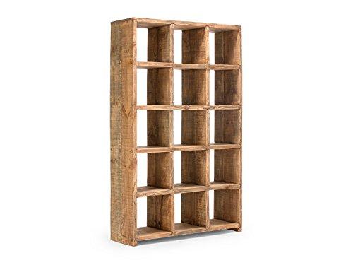 massivum Bücherregal Carvon Pinie Natur 40 x 125 x 200 cm