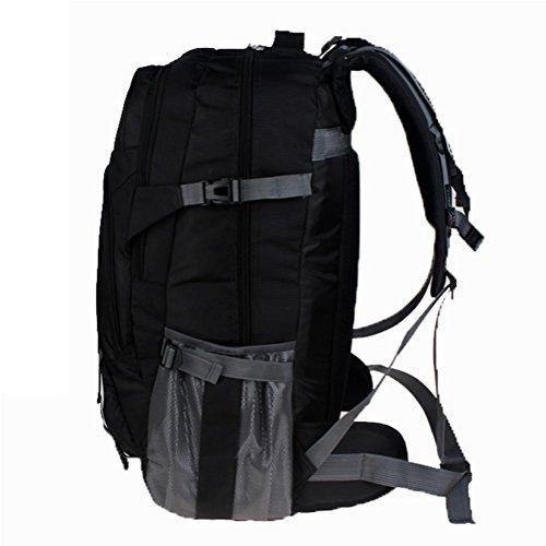 Outdoor borsa da viaggio per il tempo libero, impermeabile zaino di grandi dimensioni, esterno in poliestere arrampicata zaino, all'aperto zaino sport 65L, borse per studenti, sacchetto del calcolator black