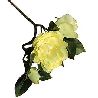 display08 1 Pieza de Camelia Artificial de Simulación de Flores para Boda, Fiesta, Decoración del hogar
