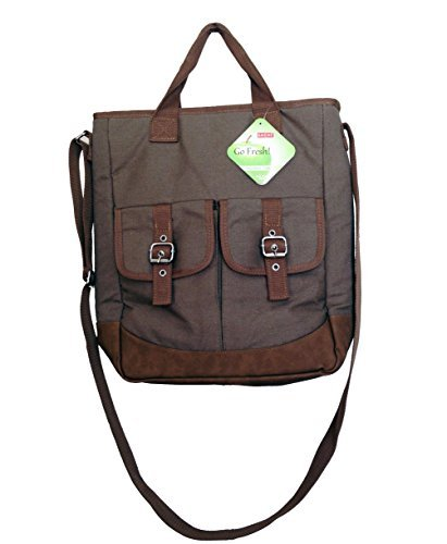 Sachi Crossbody North/South Leakproof Insulated Bag (Olive) by Sachi (Cross South Body)