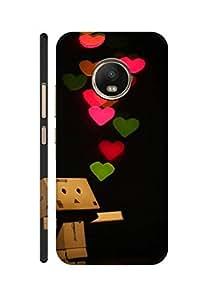 SRS Heart Of Love 3D Back cover for Moto G5 Plus