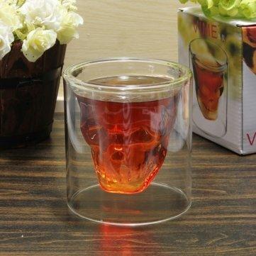 Alta qualità teschio di cristallo Vodka Shot Glass Wine Cup 250ml