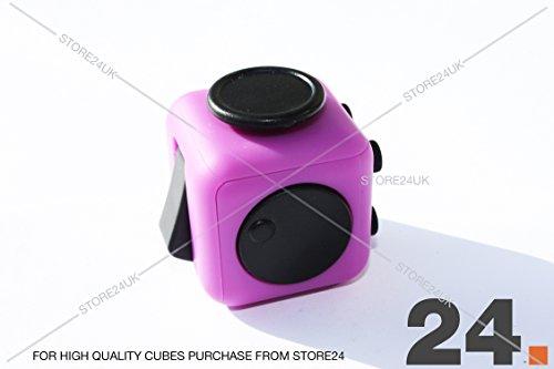 Fidget Cube 1Pcs 6-side Toy Stress Relief For Adults Children 12+ HIGHEST QUALITY (Purple) -