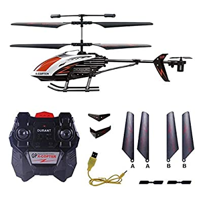 COCOSHINE RC Helicopter, Remote Controlled Helicopter Indoor Outdoor Gyro LED Light, 3.5 Channel Durable Ready to Fly RC Airplane Model Best Birthday Toy Gift Kids, Boys & Girls Even Adults
