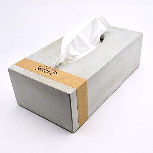 Tissue Box aus Beton Kosmetiktücher Taschentücher handgemacht in Deutschland (Tafel Bad)
