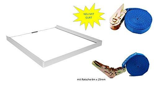 universeller Verbindungsrahmen + + Spanngurt für die Befestigung des Trockners Länge 6 Meter