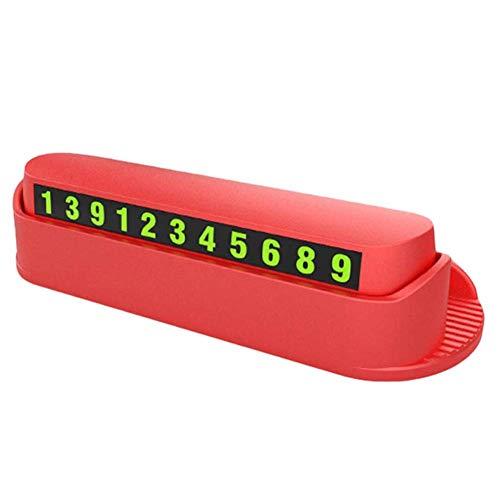 yangGradel Auto Vorübergehend Parking Platte Leuchtend Nummer Aromatherapie Handyhalter Rack - Rot - Refresh Aromatherapie