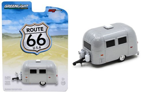 Airstream Bambi Sport 16' Trailer Silver 1/64 by Greenlight 50849 by Airstream