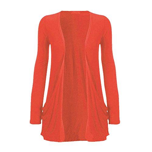 Generic - Gilet - Manches Longues - Femme Rouge - Corail