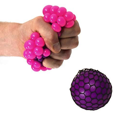Netz Stressball in lila - Squeeze Antistressball Knautschball Knetball
