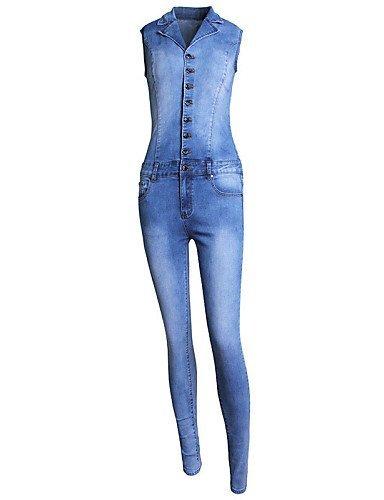 GSP-Pantalon Aux femmes Vintage / Décontracté Coton / Polyester blue-xl