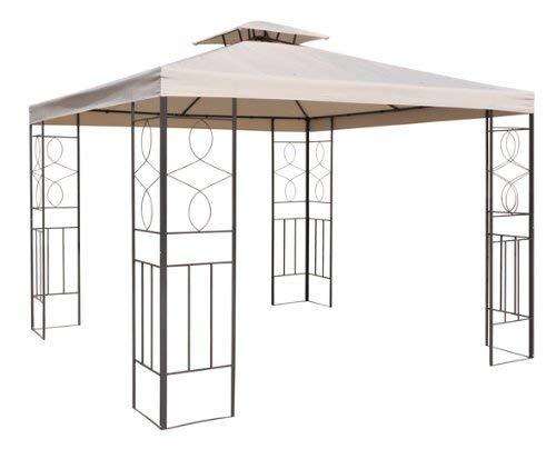 WASSERDICHT Pavillondach Beige 2,98x2,98m Dach Pavillon Pavillion PVC