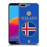Head Case Designs Isländische Fahne Fahnen Flicken Ruckseite Hülle für Huawei Honor 7C/Enjoy 8