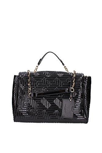 DBCE157DVERSD410 Versace Sac à main Femme Cuir Verni Noir Noir