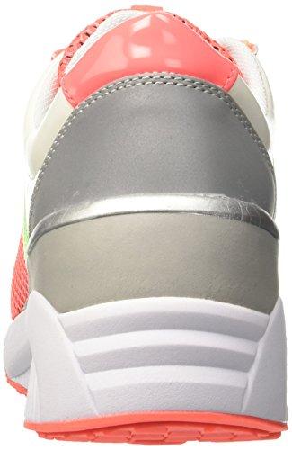 Versace Jeans Ee0hpbsf1_e75420, Sneaker a Collo Basso Donna Arancione (Corallo)