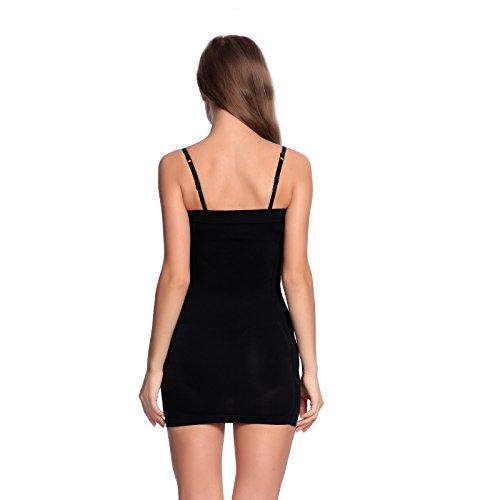 Gaine robe Body sculptant robe moulante correcteur Lingerie noir chair Noir