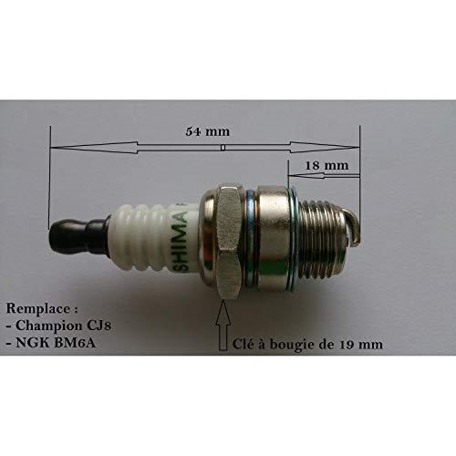 Candela per motosega, decespugliatore, tagliasiepi, sostituisce CJ8 o BM6A