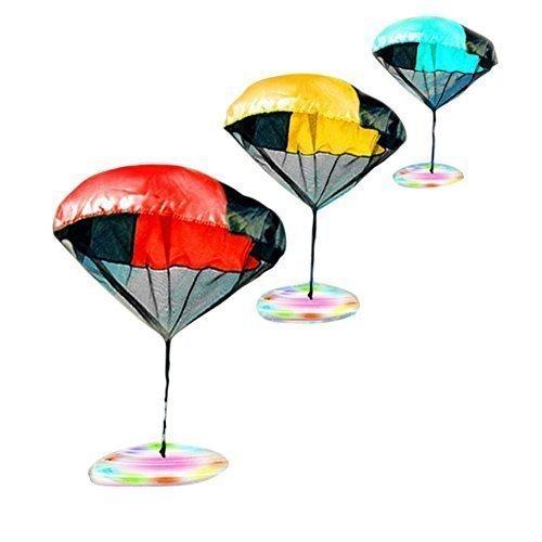Happy Glow Spiel Fallschirm Spielzeug UFO Blinklicht Verkleidung LED Wurf Fliegen Hoch Knotenfrei Fallschirm Spielsachen