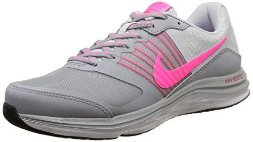 Nike Wmns Dual Fusion X, Scarpe sportive, Donna Wlf Gry/Pnk Pw-Pr Pltnm-Fchs G