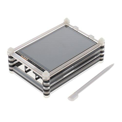 MagiDeal 3.5 '' Touch-Screen TFT LCD-Display SPI LCD-Schnittstelle 320 * 480 Auflösung und Acryl gehäuse Case Cover für Raspberry Pi 3 Modell B/B + - 320-schnittstelle