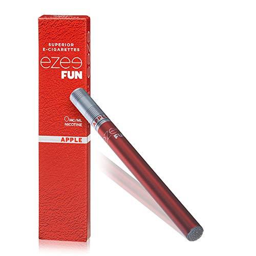 Ezee Fun Einweg E-Zigarette Apfel Geschmack Nikotinfrei Elektronische Verdampfer bietet etwa 400 Züge e Shisha 2 Stück