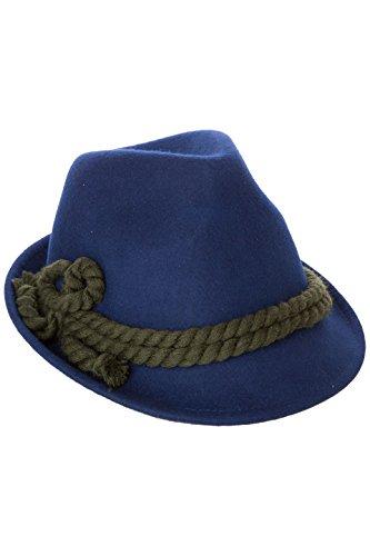 Schicker und Stillvoller Trachtenhut mit breiter Kordel. Fesch für die Dame zum Dirndl und zünftig für den Herrn zur Lederhose, Gr. 55-60, in den 4 aktuellen Trendfarben