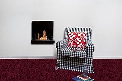 Bio-Blaze BB-VE-B Wall Fireplace for Bioethanol Fuel Velona Black