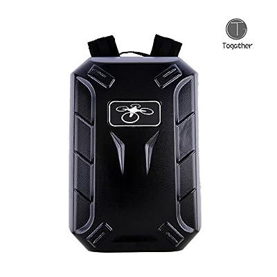 Togather® Black Hard Shell Backpack Carrying Case Portable Carry Bag for Drone DJI Phantom 2 & Phantom 3 Vision