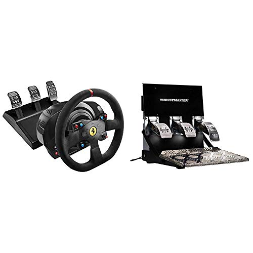 Thrustmaster T300 Integral Rw Volante, Alcantara Edition - PC/PS4/PS3 + Thrustmaster T3PA Pro 3 Pedals Add-On - Classics