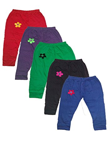 T2F Girls' Leggings (T2FKLEGC05_Multi_4-5YRS) (T2FKLEGC05)