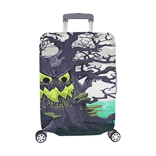Schreckliche Halloween Cartoon Baum Grinsen Mitternacht Muster Spandex Staubschutz Trolley Protector case reisegepäck Schutz Koffer Abdeckung 28,5 x 20,5 Zoll