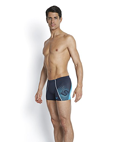 Speedo Herren Fit V Aquashorts Badehose Navy/Adriatic Blue
