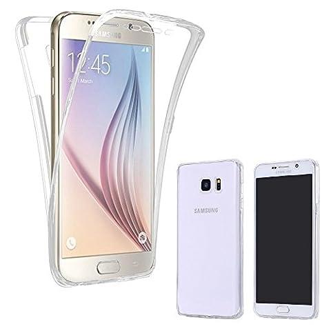 Full Cover Handy Hülle 360° Silikonhülle Vorne + Hinten von ZhinkArts für Samsung Galaxy S6 Edge Plus