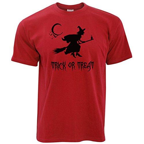 Hexe auf einem Besen Süßes oder Saures Halloween -